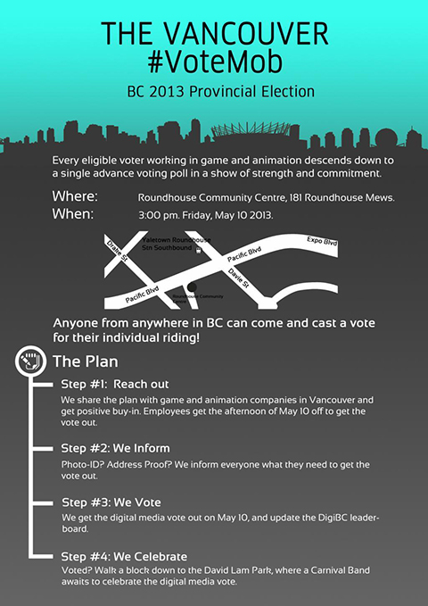 VoteMob Strategy Poster — Via  @Unbounce