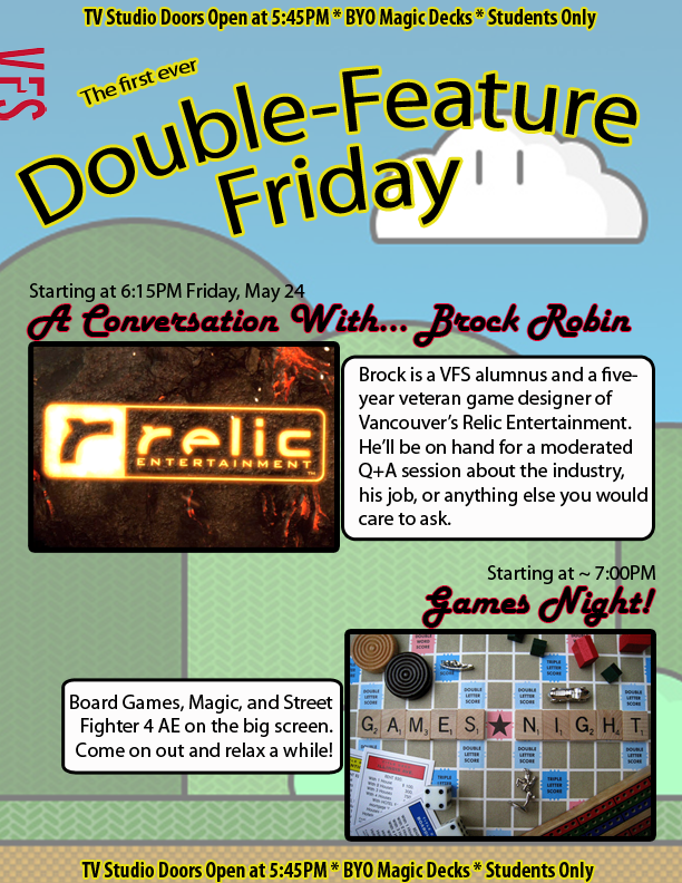 Double Feature Friday : A Conversation With and Games Night
