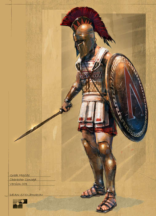 A Hoplite with Xiphos by Dean Stolpmann