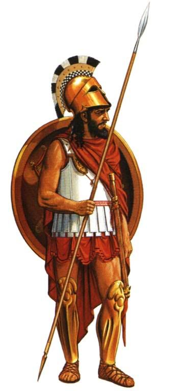 A Hoplite with spear