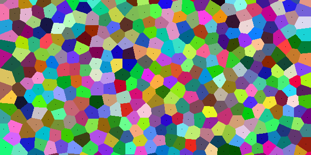 A portion of a Voronoi diagram