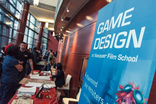 Game Design table in lobby