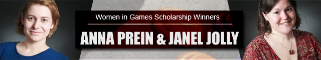 Women in Games Scholarship Winners Anna Prein and Janel Jolly