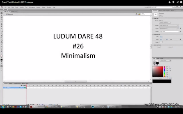 Ludum Dare 26 - screenshot from Nick Yonge's Time-Lapse