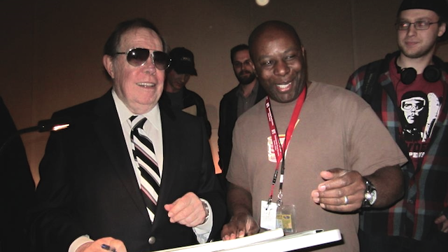Photo of Syd Mead and Roger Mitchell