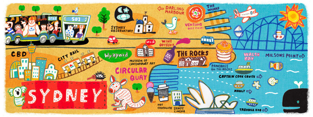 They Travel & Draw map of Sydney