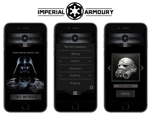 Imperial Armoury Mobile Mockups by Julien Herras