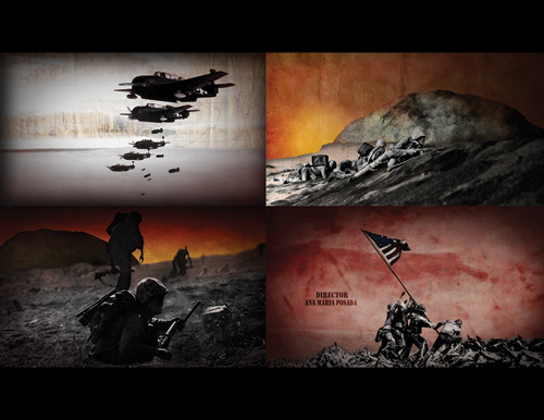 Iwo Jima Title Sequence by Ana Maria Posada Arias
