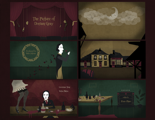 The Picture of Dorian Gray Title Sequence by Saida Saetgareeva