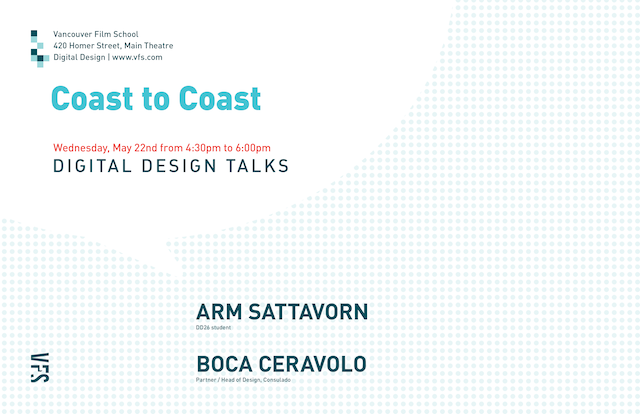 Digital Design Talks May 22 : Coast to Coast