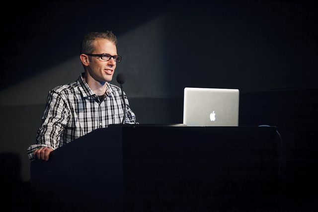 Mark Raham speaking at Digital Design Talks