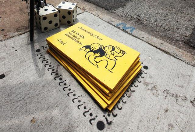Real Art Design Group Chicago : Anonymous artist s bored turn chicago streets into game of