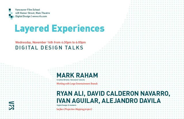 Digital Design Talks: Layered Experience Poster