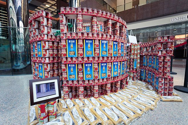 Canstruction: Vancouver Central Library