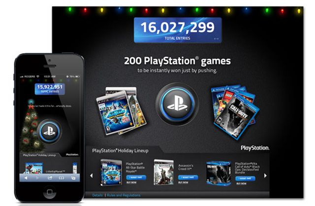 Holiday Button Campaign for Web and Mobile