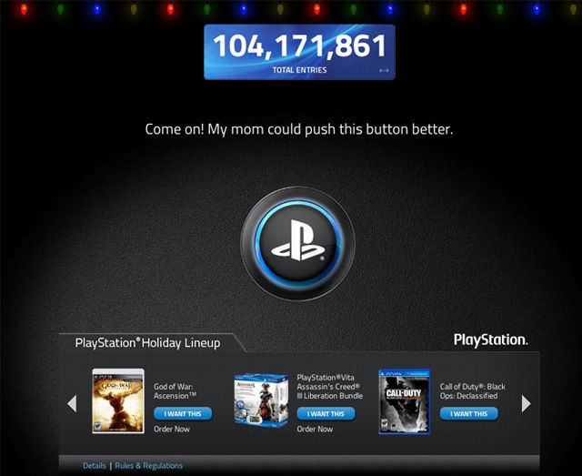 Holiday Button Screenshot