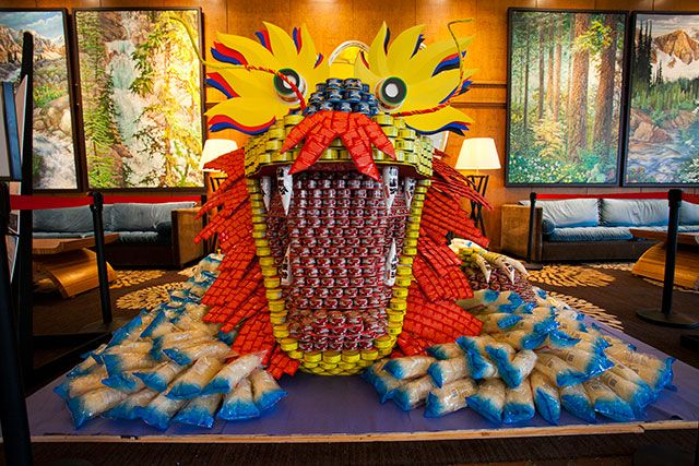 Canstruction: Year of the Dragon