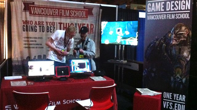 Setting up the VFS Game Design Booth at SXSW