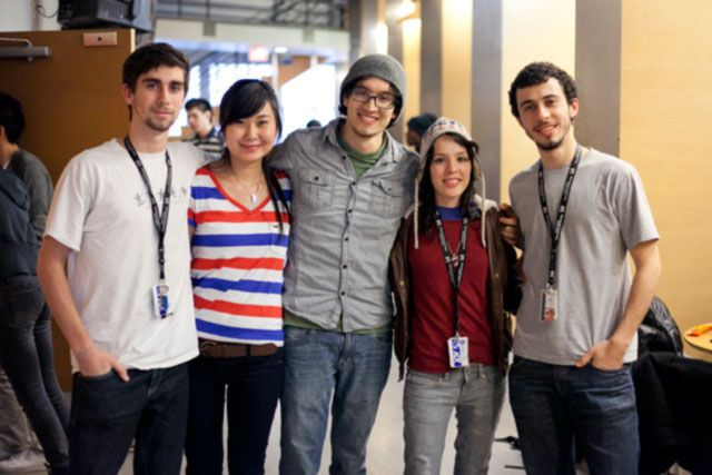 Jorge with VFS students