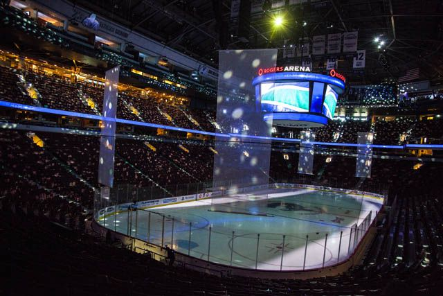 Vancouver Canucks Preshow Projection by Mark Raham's Creative Team