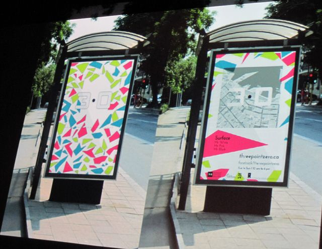 Laura Cortes Bus Shelter images for Gallery Branding