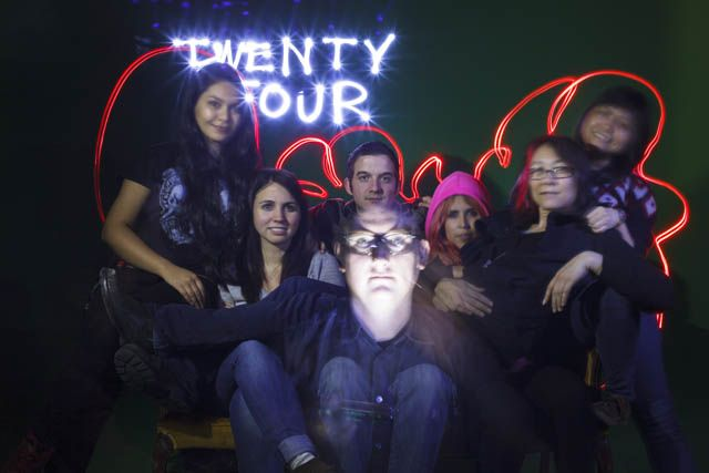 Students create class homage with light