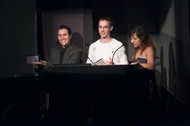 Tied Winners for Best Interactive Design Ricard Adrianza (SongSketch) and Laura Cortes with Devin McInnis (Sphinx)
