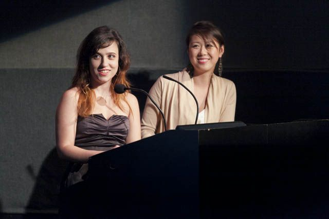 Presenting the Award for Faculty Rockstar Laura Cortes and Samantha Chow